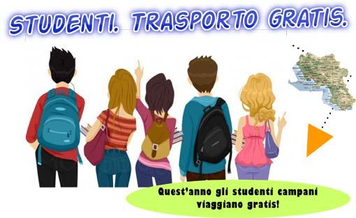 Trasporto gratis per gli studenti della Regione Campania